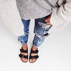 LEXI🖤 black strap buckle sandals slip on tan
